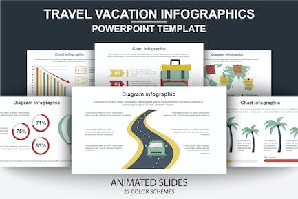 Travel Infographics Powerpoint Animated Slides