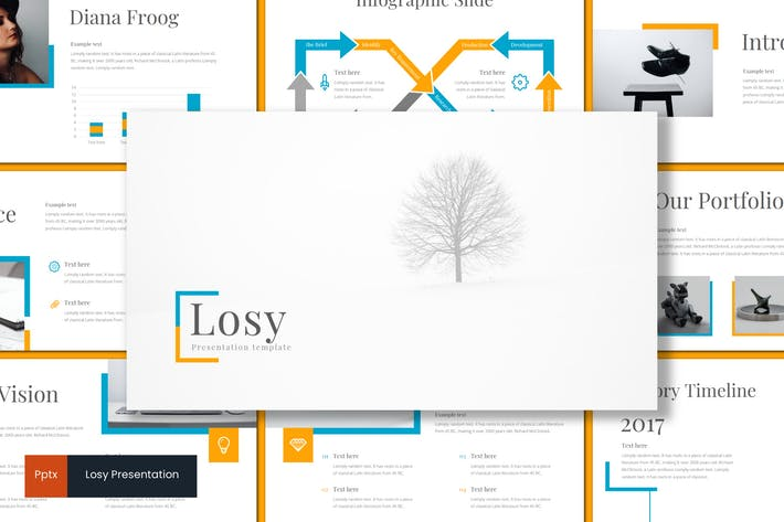 Thumbnail for Losy - Powerpoint Template