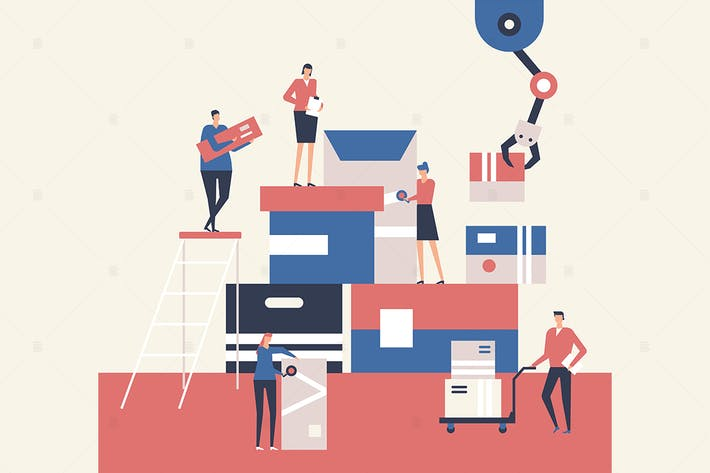 Thumbnail for Logistics - flat design style illustration