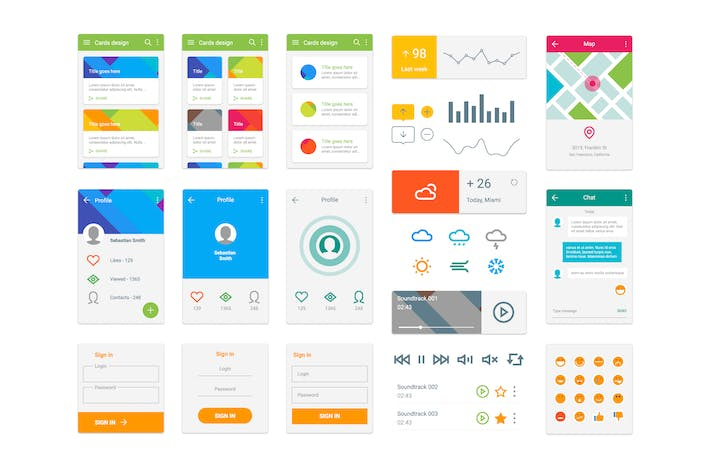 Thumbnail for Material Design UI Kit