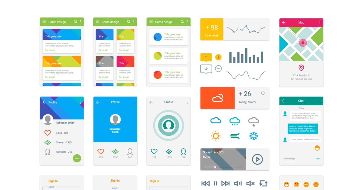 Download Material Design UI Kit by Krafted