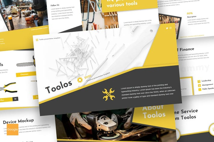 Thumbnail for Toolos - Google Slides Template