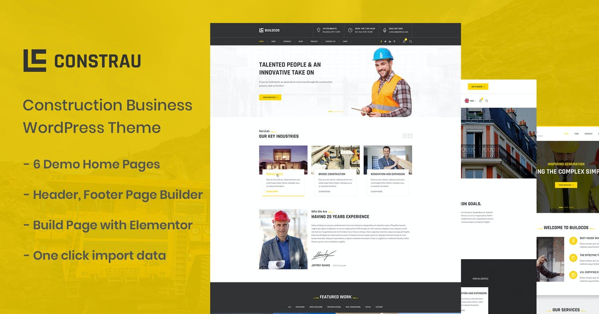 Download Constrau - Construction Business WordPress Theme by ovatheme