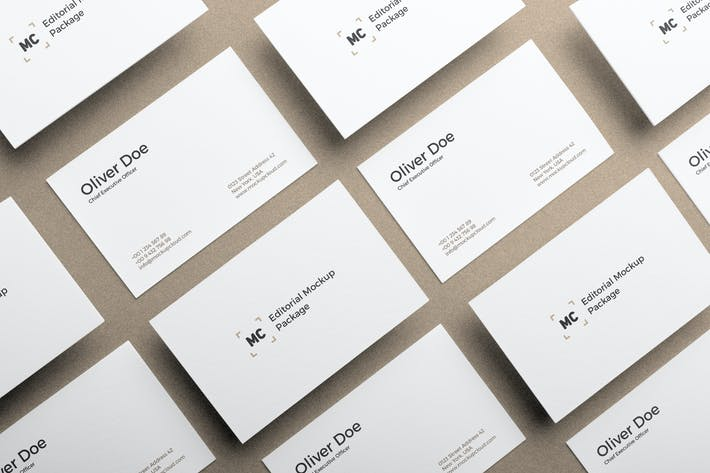 Thumbnail for Business Cards Mockup Vol. 3