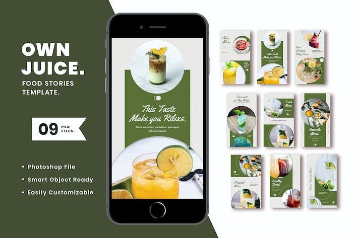 Thumbnail for Propre Juice Instagram Modèle