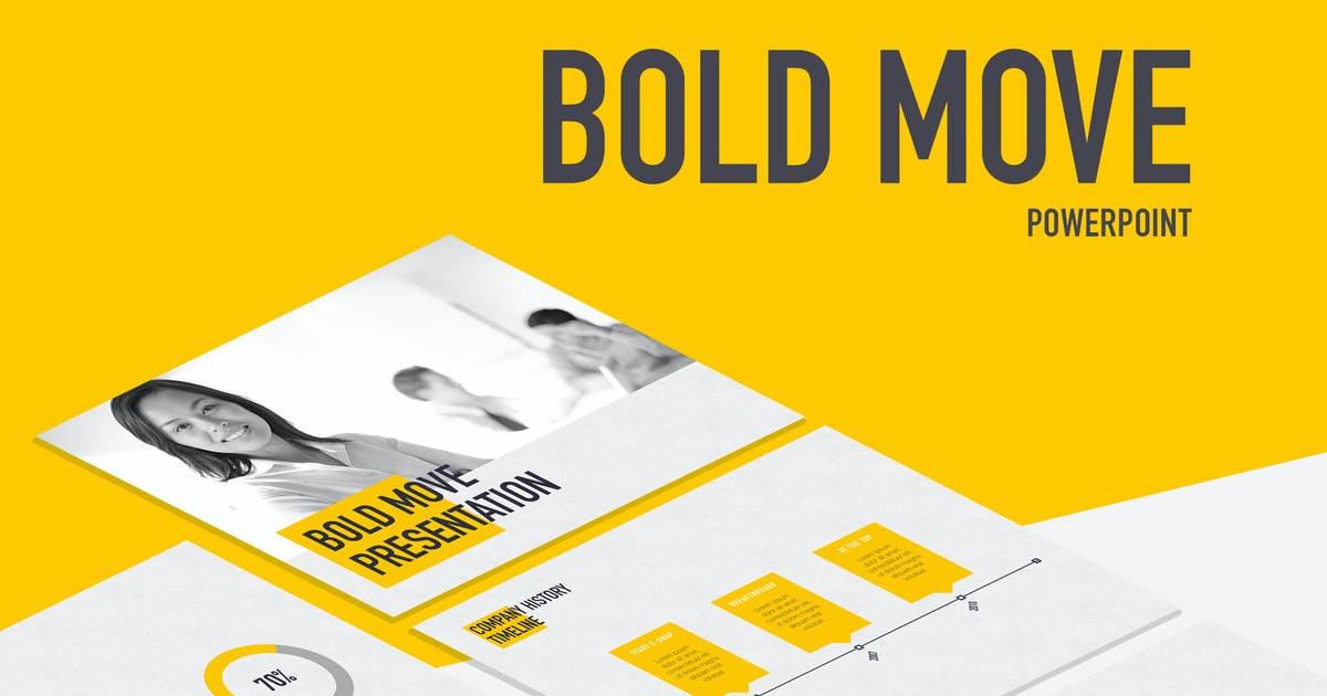 Download Bold Move PowerPoint Template by Unknow