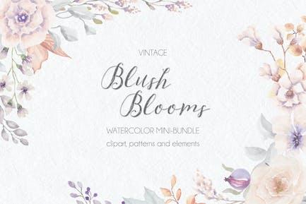 Vintage Blush Blooms in Watercolor