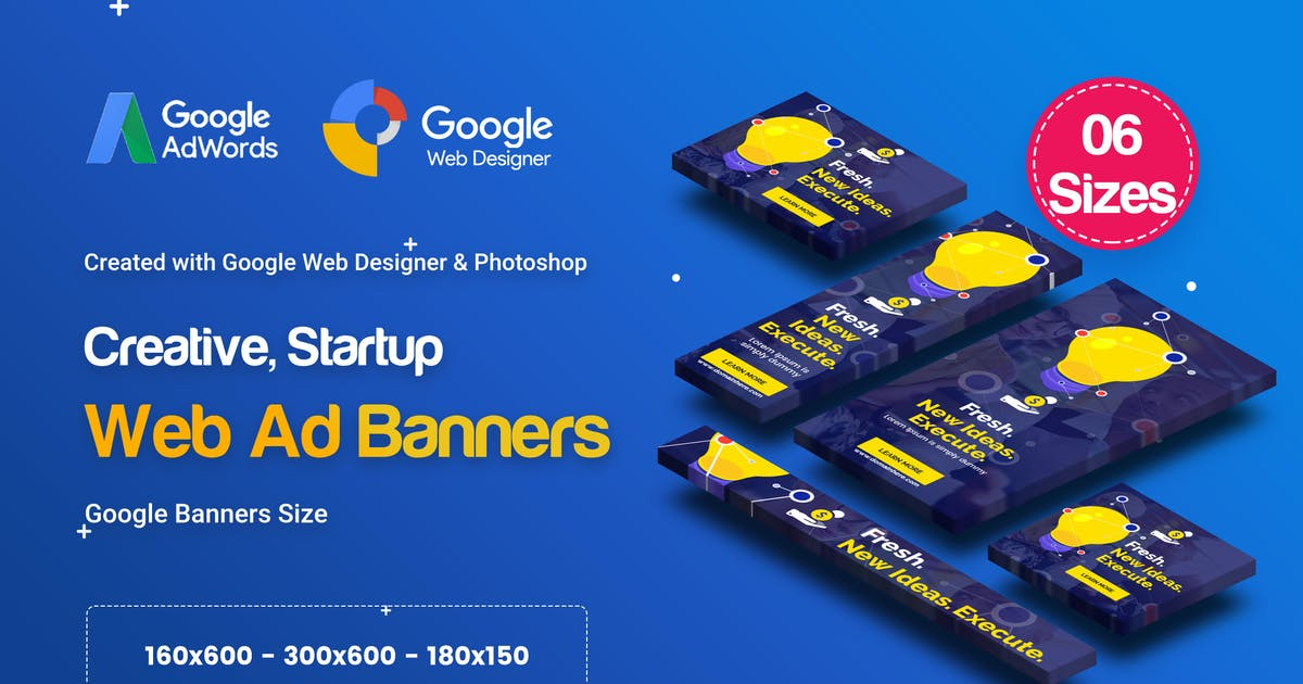 Download C61 - Creative, Startup HTML5 Ad - GWD & PSD by iDoodle