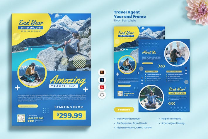 Thumbnail for Travel Agent Year End Promo Flyer
