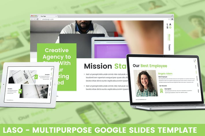 Thumbnail for Laso - Multipurpose Google Slides Template