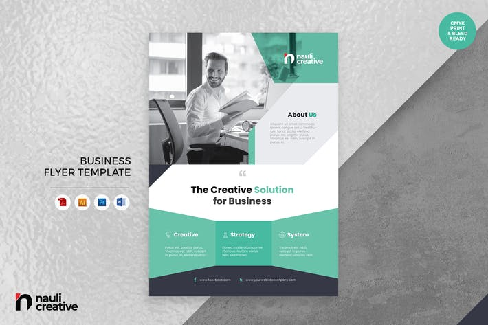 Corporate Business Flyer AI, DOC, & PSD Vol.31