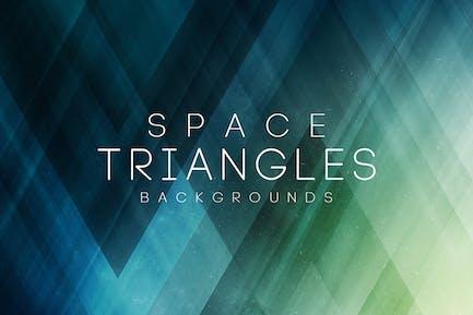 Space-Dreiecke Hintergründe