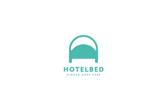 Thumbnail for Hotel Bed Logo Template