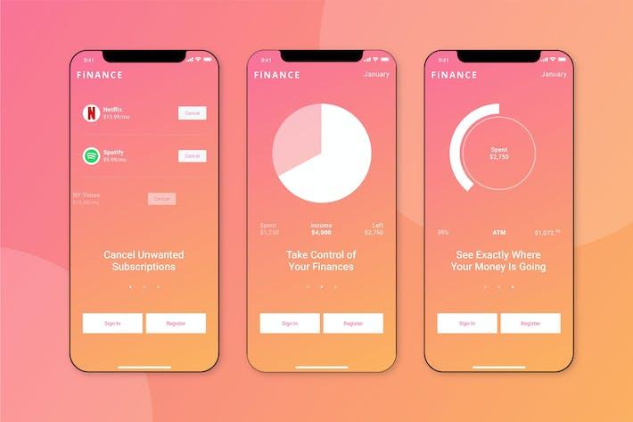 Cover Image For Finance Walkthrough Mobile UI - FD