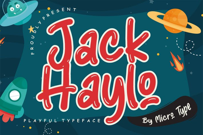 Thumbnail for Jack Haylo Playful Typeface