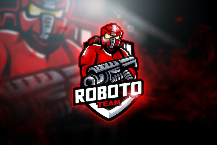 Thumbnail for Roboto Team - Mascot & Esport Logo