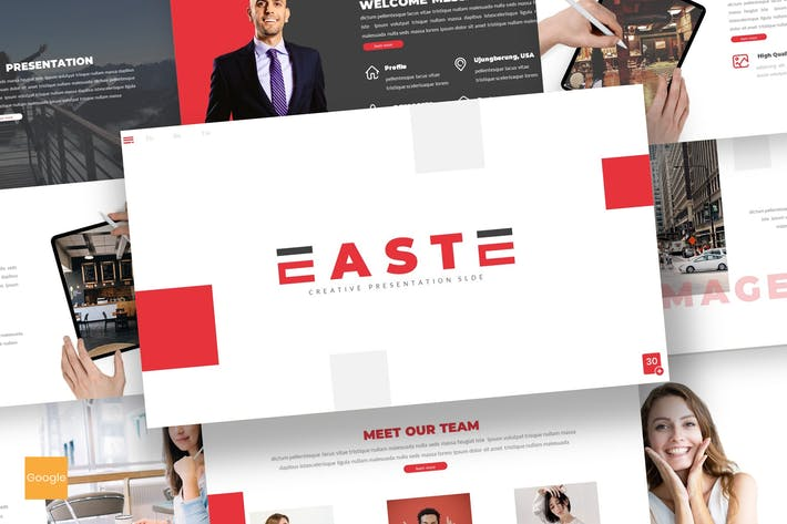 Thumbnail for East - Business Google Slides Template