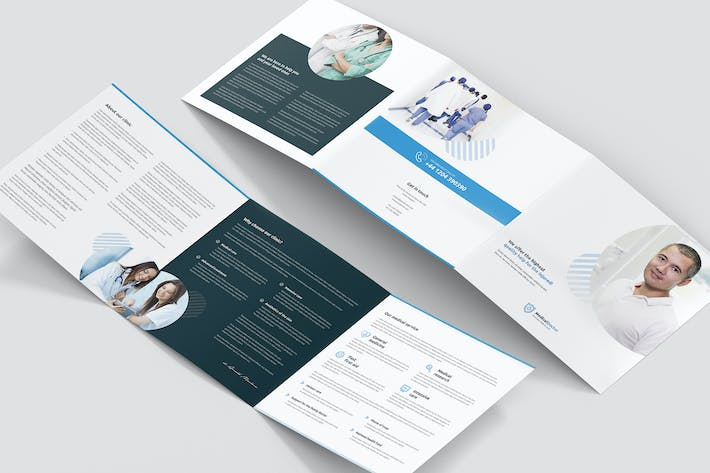 Thumbnail for Brochure – Doctor Tri-Fold Square
