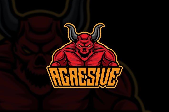 Thumbnail for Aggresive Devil Esport Logo Mascot