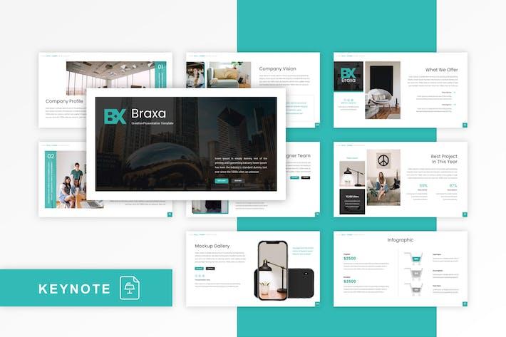 Thumbnail for Braxa - Creative Keynote Template