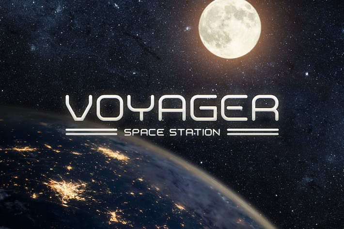 Cover Image For Voyager Typeface
