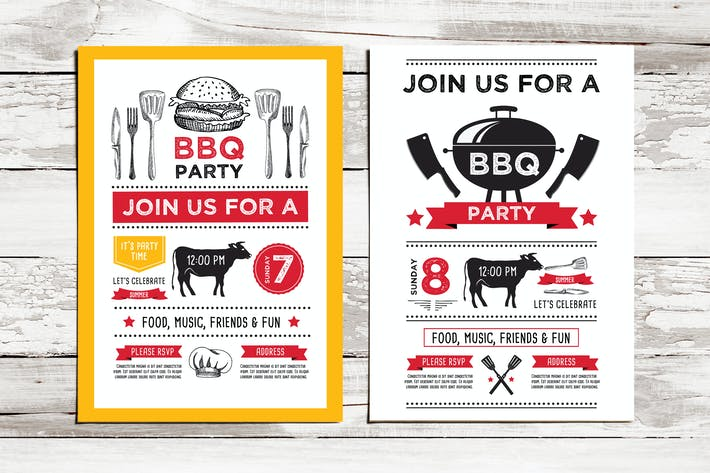bbq party invitation by barcelonadesignshop on envato elements