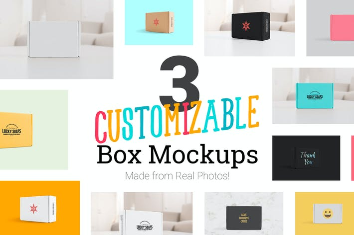Cover Image For 3 Real Photo Product Box Mockups