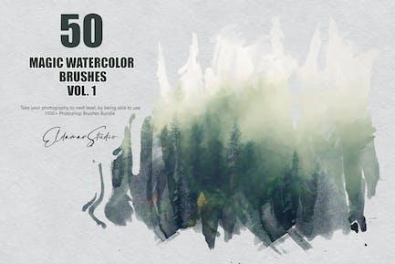 50 Magic Watercolor Brushes - Vol. 1