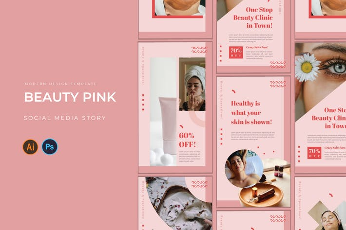 Thumbnail for Beauty Pink Instagram Story
