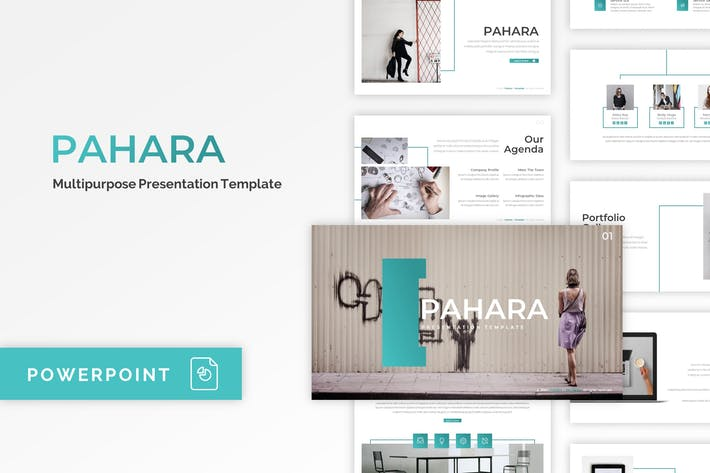 Pahara - Шаблон PowerPoint компании
