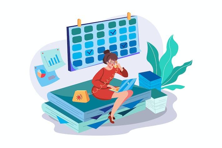 Thumbnail for Weibliche Büroleiter-Illu