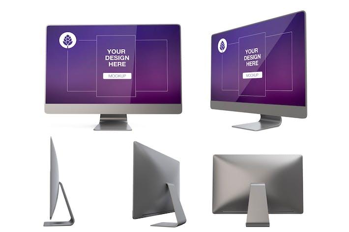 Desktop Computer in different views