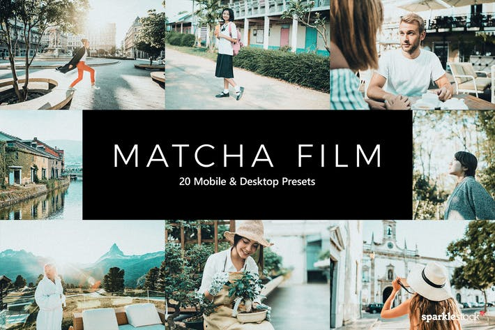 Thumbnail for 20 Matcha Film Lightroom Presets & LUTs