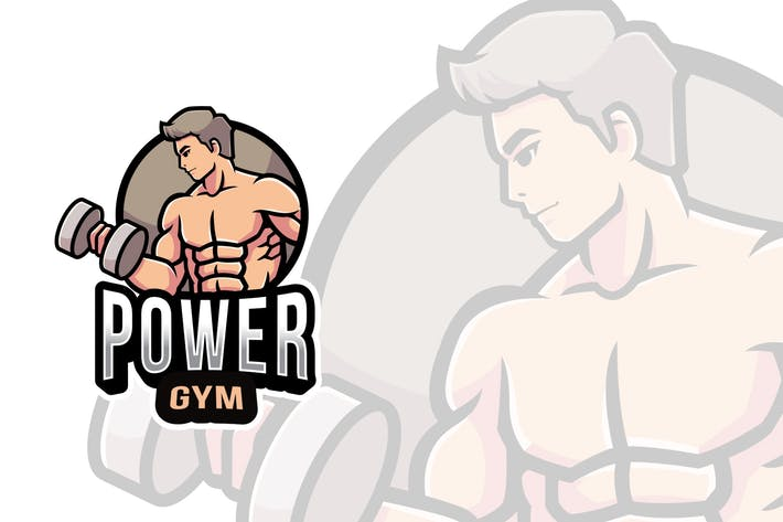 Thumbnail for Power Gym Logo Template