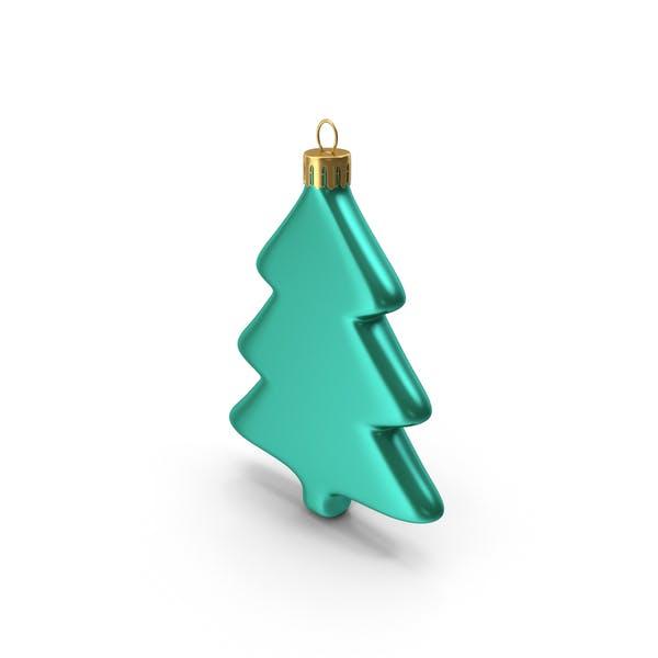 Baum Ornament Grün Blau