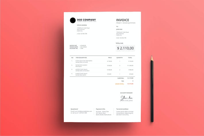 Thumbnail for Invoice Business with Clean Style