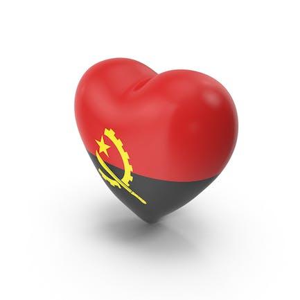 Bandera de corazón de Angola
