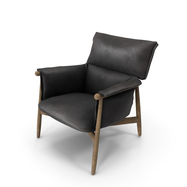 Lounge Chair Black Damaged