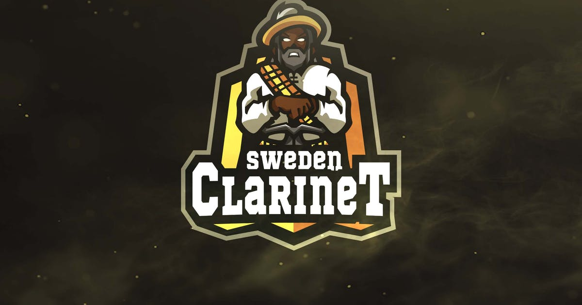 Download Sweden Clarinet Sport and Esports Logos by ovozdigital