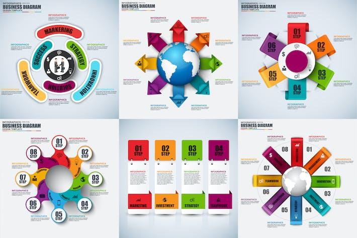 Thumbnail for Modern Set Infographics