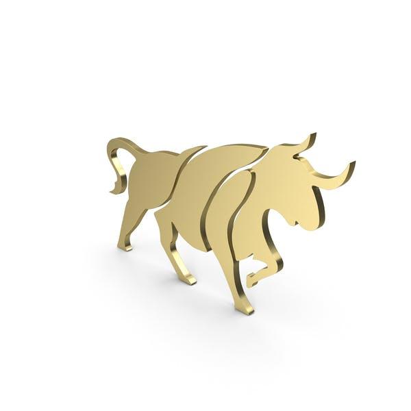 Бык Фигура Золото