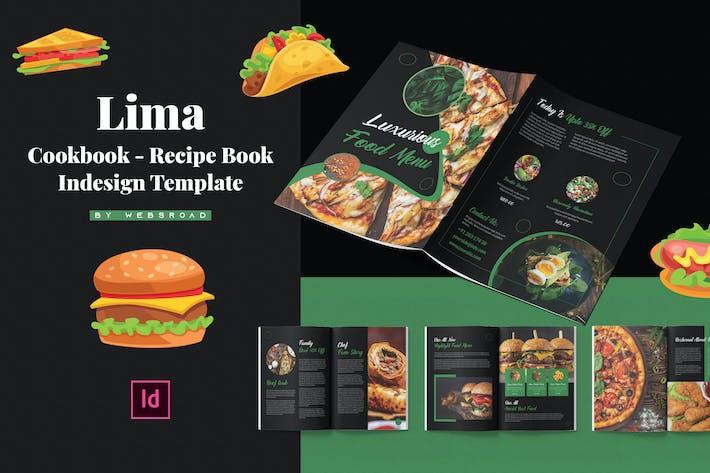 Lima | Livre de recettes - Livre de recettes Indesign modèle