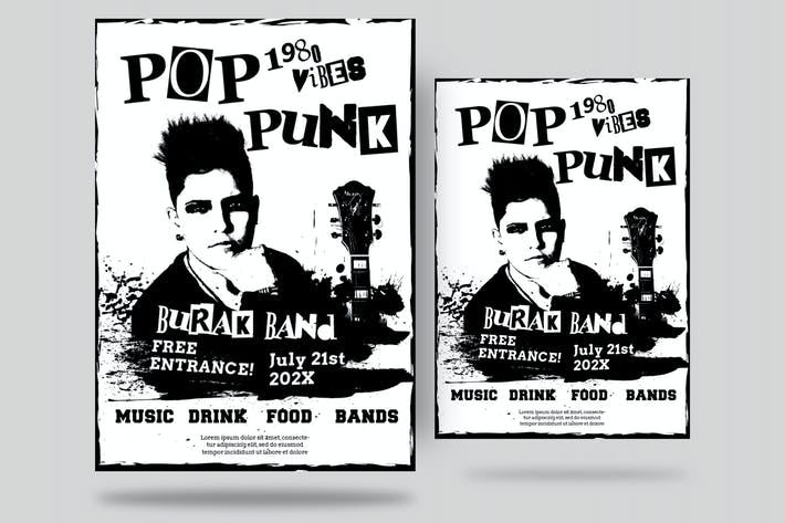 Cover Image For Pop Punk Flyer