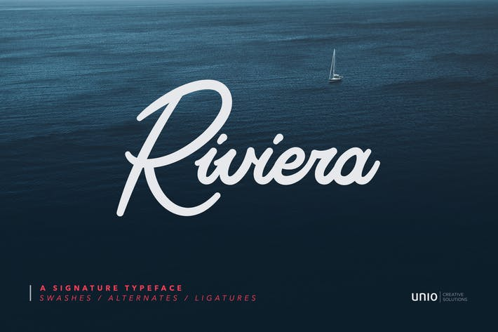 Thumbnail for Riviera - Signature Font