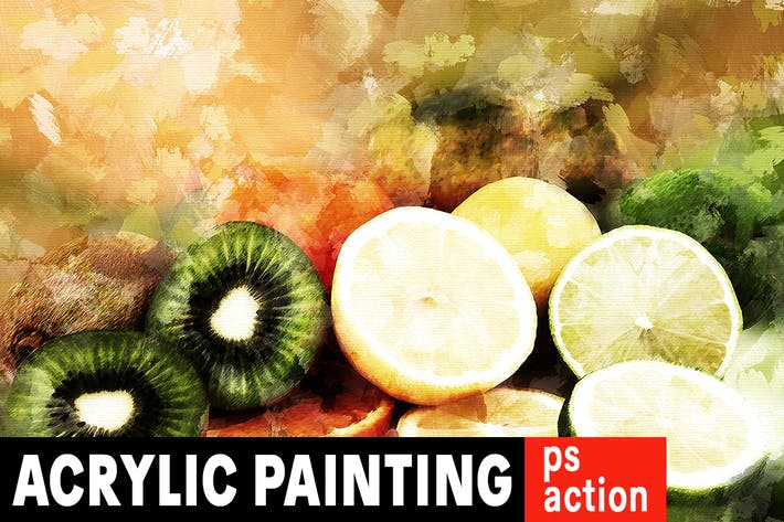 Thumbnail for Acrylic Painting Photoshop Action