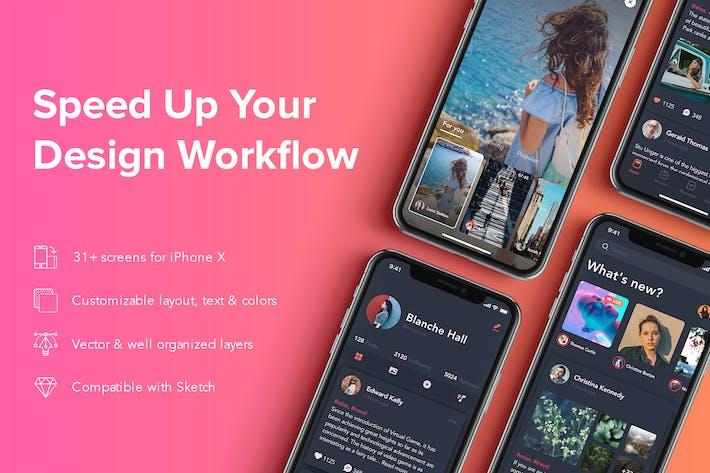 Thumbnail for Zingo - Video Social mobile app UI Kit