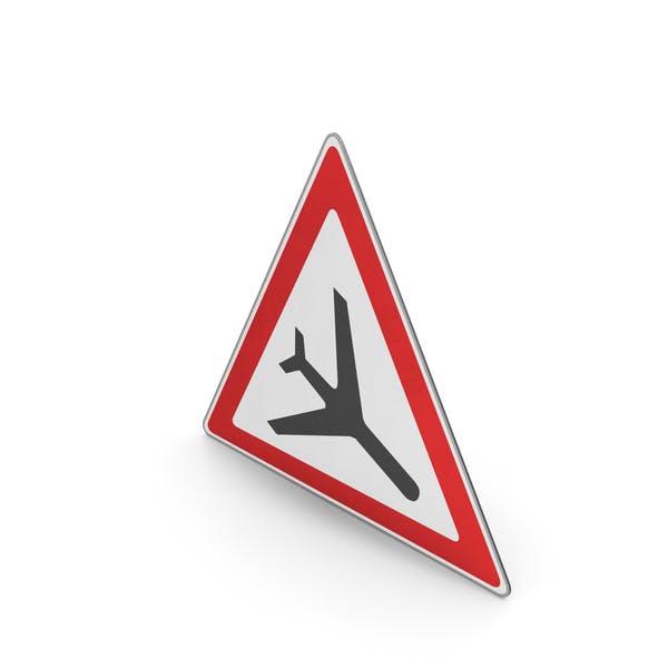 Дорожный знак Низколетающий самолет