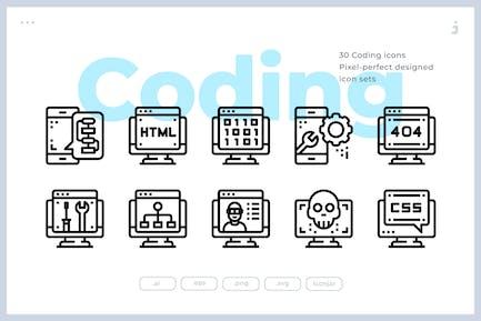 30 Coding Icons