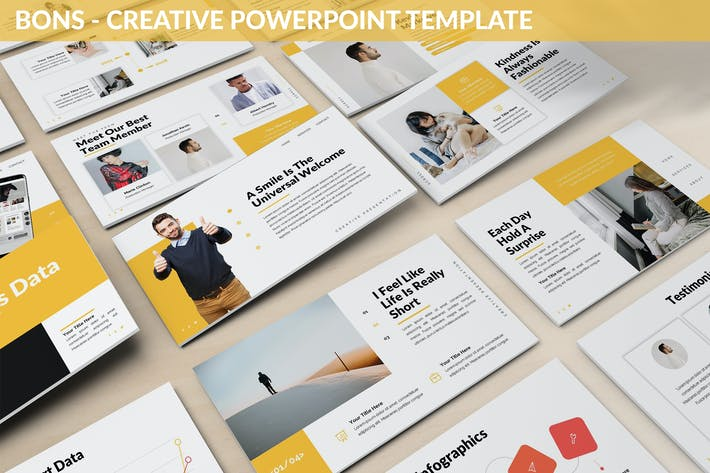 Thumbnail for Bons - Creative Powerpoint Template