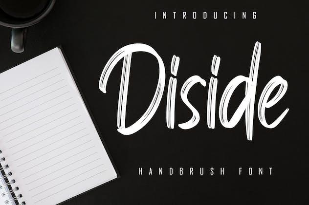 Diside - Handbrush Font